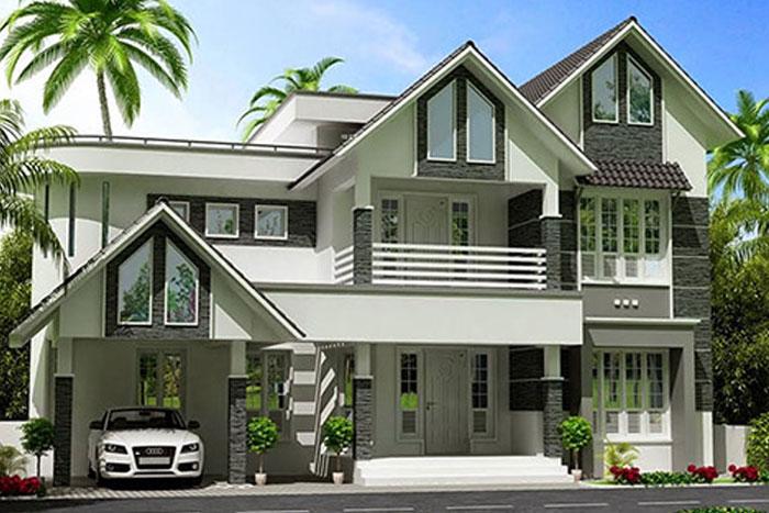 Hình anh thiết kế nhà hiện đại 3